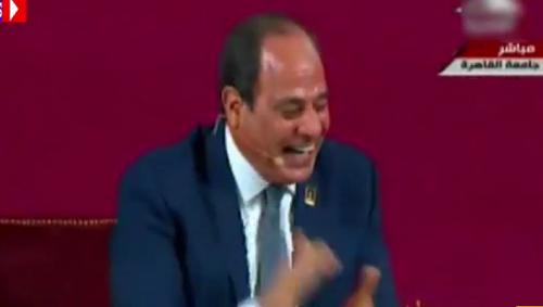 عاجل بالفيديو| أول تعليق من الرئيس السيسي على «رقصة كيكي».. ويدخل في نوبة ضحك وسط تصفيق حادّ