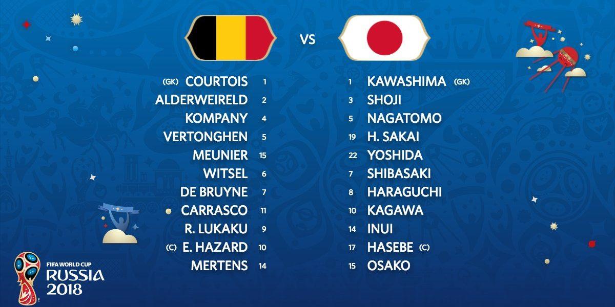 ملخص مباراة بلجيكا واليابان التى انتهت بفوز بلجيكا