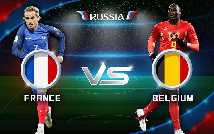 موعد مباراة فرنسا وبلجيكا في دور نصف نهائي كأس العالم والقنوات الناقلة للمباراة