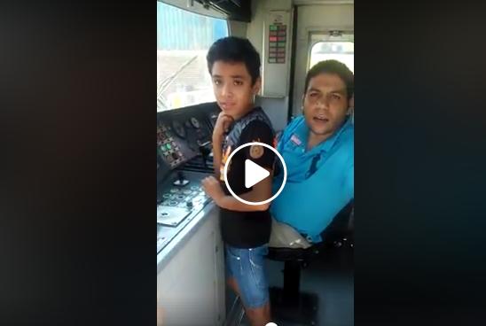 """فيديو صادم وعلى طريقة """" خلي حمادة يلعب"""".. سائق مترو يصطحب طفله داخل كابينة القيادة"""