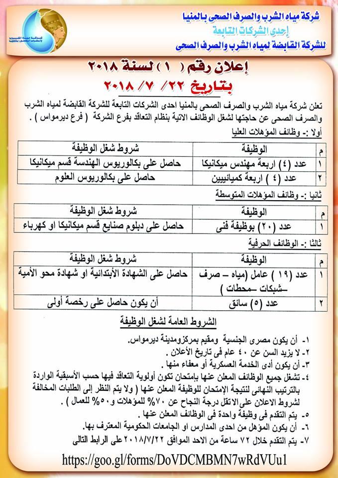طلب توظيف واستمارة التقديم لوظائف شركة مياه الشرب والصرف الصحي _ سجل الأنترنت 4