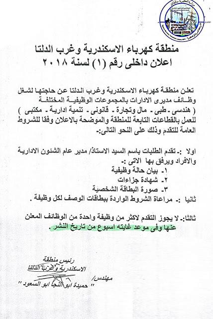 تعيينات ووظائف وزارة الكهرباء والطاقة المتجددة المصرية 12
