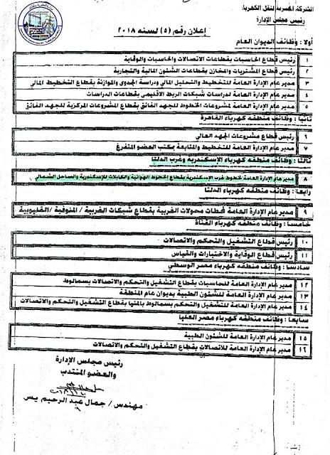 تعيينات ووظائف وزارة الكهرباء والطاقة المتجددة المصرية 3