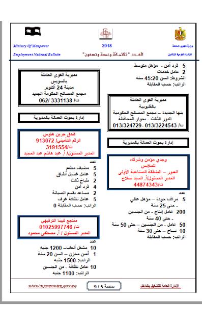 """وظائف الحكومة المصرية """"محدث"""" 6"""