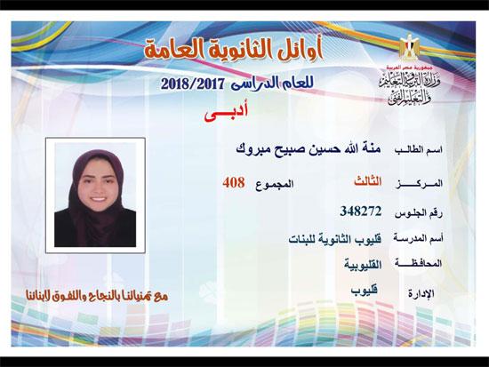 ننشر أسماء أوائل الثانوية العامة 2018 على مستوى محافظات جمهورية مصر العربية 28
