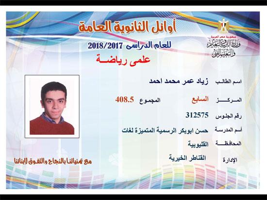 ننشر أسماء أوائل الثانوية العامة 2018 على مستوى محافظات جمهورية مصر العربية 7