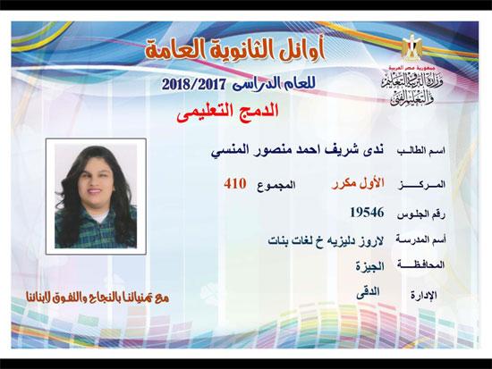 ننشر أسماء أوائل الثانوية العامة 2018 على مستوى محافظات جمهورية مصر العربية 38
