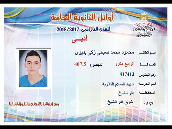ننشر أسماء أوائل الثانوية العامة 2018 على مستوى محافظات جمهورية مصر العربية 39