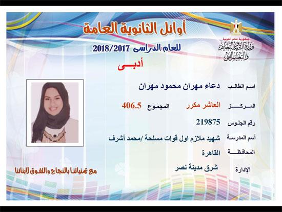 ننشر أسماء أوائل الثانوية العامة 2018 على مستوى محافظات جمهورية مصر العربية 40