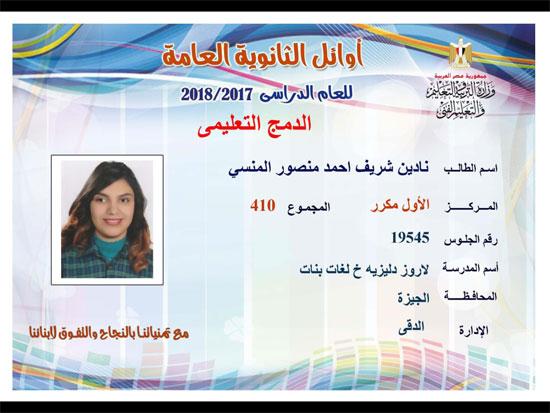 ننشر أسماء أوائل الثانوية العامة 2018 على مستوى محافظات جمهورية مصر العربية 41