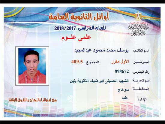 ننشر أسماء أوائل الثانوية العامة 2018 على مستوى محافظات جمهورية مصر العربية 3