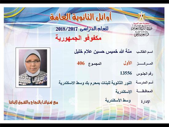 ننشر أسماء أوائل الثانوية العامة 2018 على مستوى محافظات جمهورية مصر العربية 47