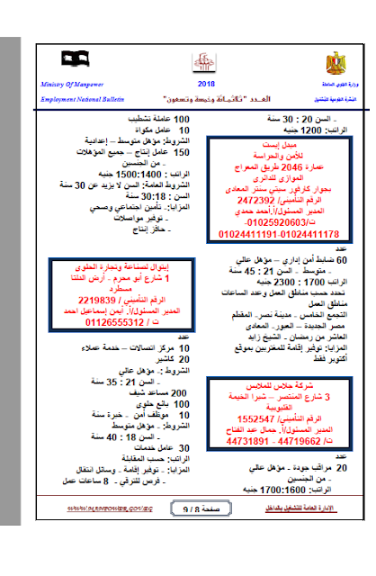 """وظائف الحكومة المصرية """"محدث"""" 3"""