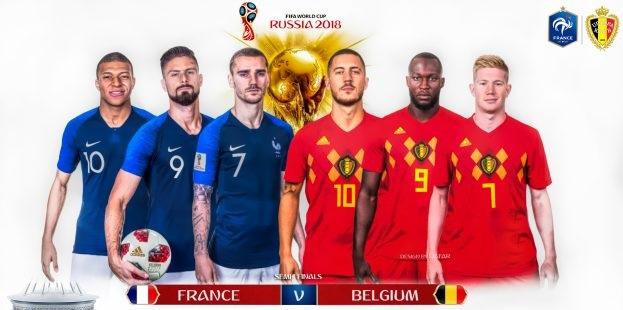 موعد مباراة فرنسا وبلجيكا في دور نصف نهائي كأس العالم والقنوات الناقلة للمباراة 1
