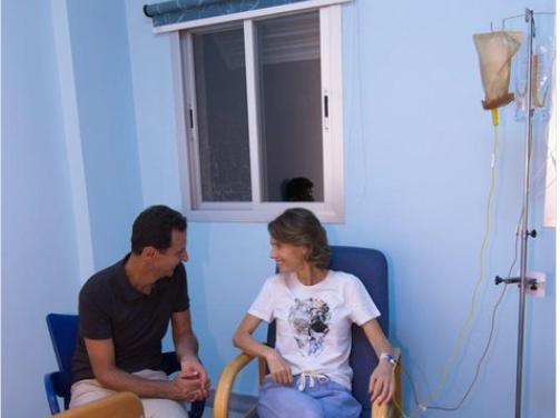 شاهد| إصابة «أسماء» نجلة الرئيس بشار الأسد بمرض خطير