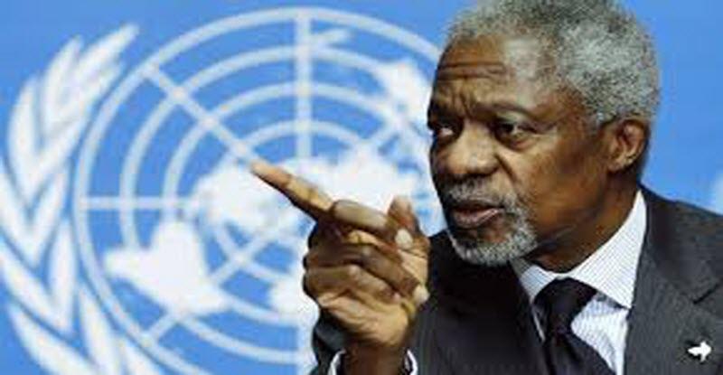 رسالة مؤثرة من كوفي عنان إلى قادة العالم قبل وفاته
