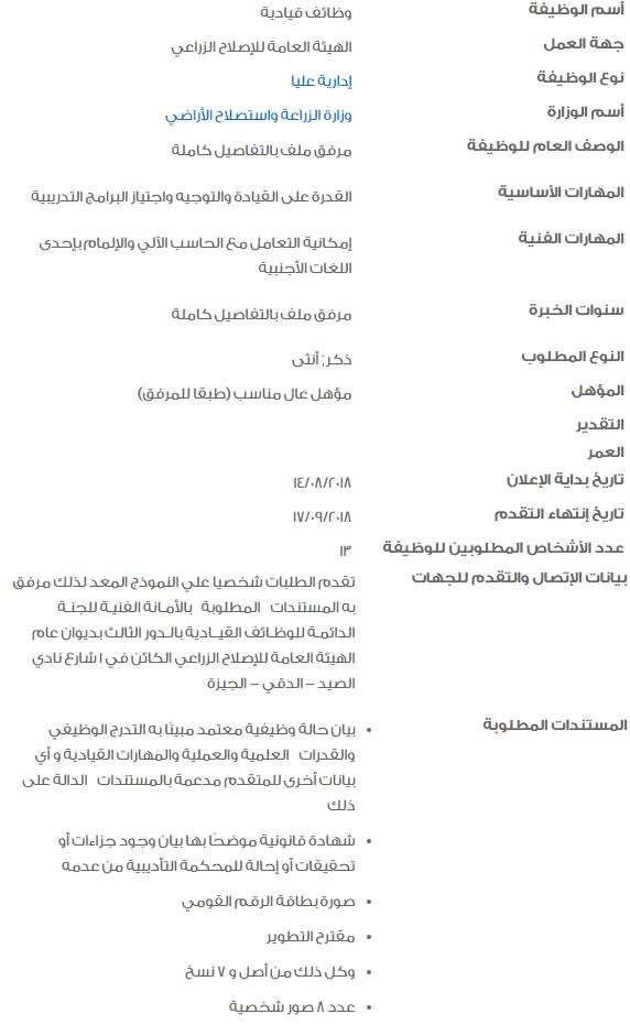 وظائف الحكومة المصرية بالتفاصيل وموعد التقديم والأوراق المطلوبة 1
