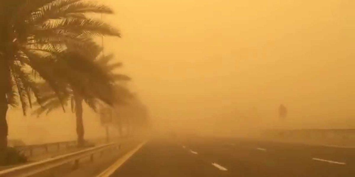الأرصاد الجوية تحذر من وجود عواصف رملية علي محافظة أسوان