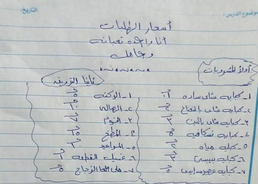 زوجة تضع لزوجها قائمة أسعار مقابل الخدمة الزوجية: اللي مش عجبه يخدم نفسه واسأل برة