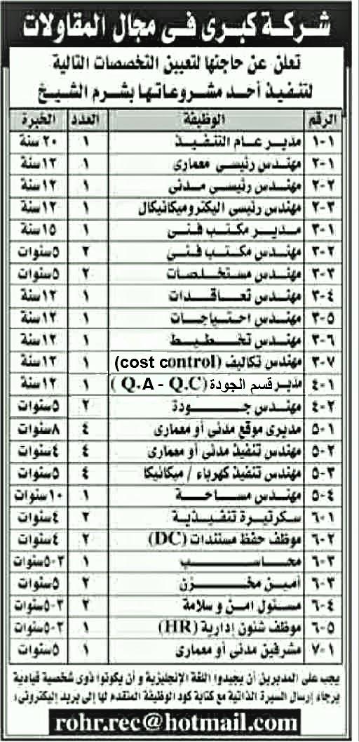 اعلانات وظائف جريدة الأهرام الأسبوعي 7