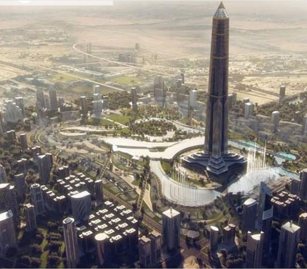 البرج المزمع بناؤه في العاصمة الإدارية الجديدة في مصر