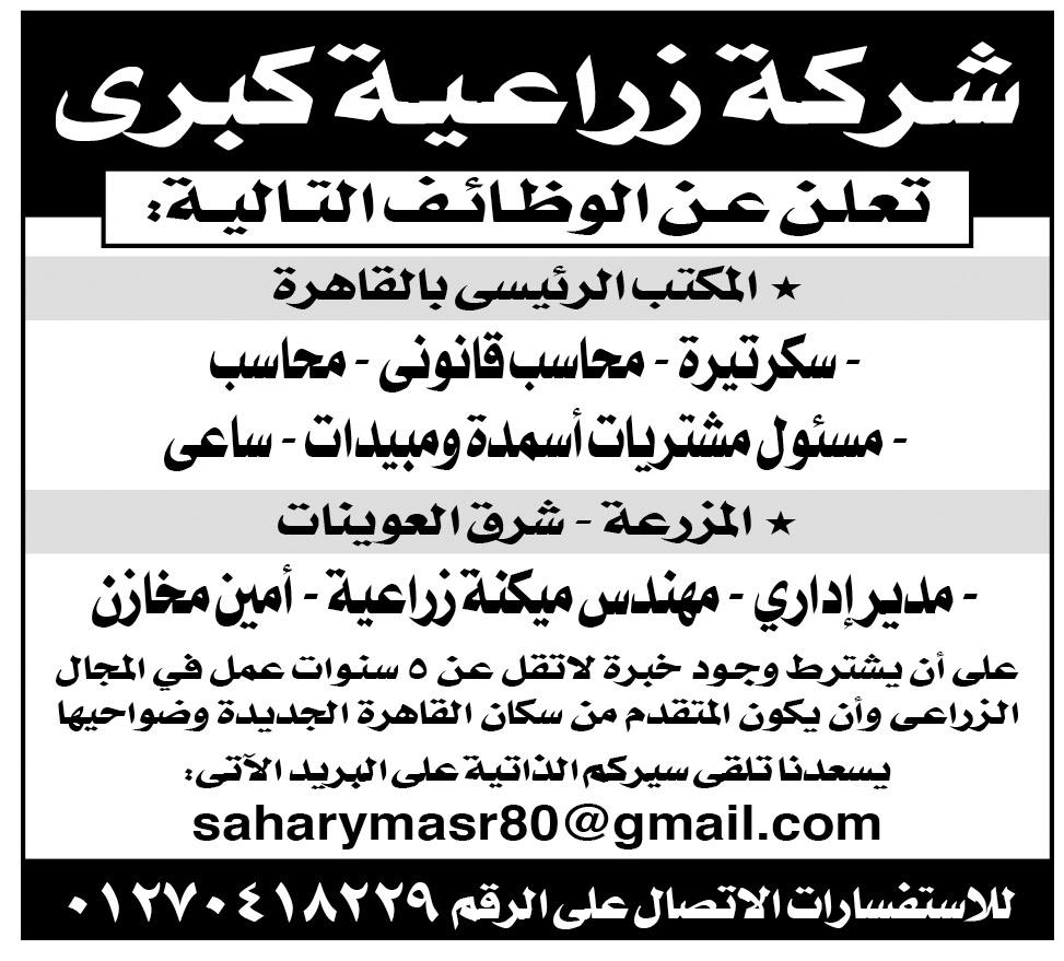 إعلانات وظائف جريدة الأهرام الجمعة لجميع المؤهلات 10