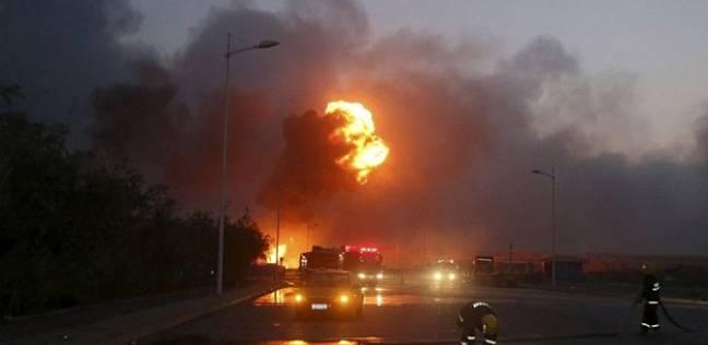 """عاجل.. إندلاع حريق هائل داخل """"حي السفارات"""" بمدينة نصر.. والداخلية تفرض كردون أمني حول المنطقة"""