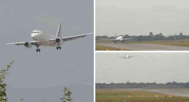 بالفيديو لحظات الرعب .. طائرات تترنح في الهواء