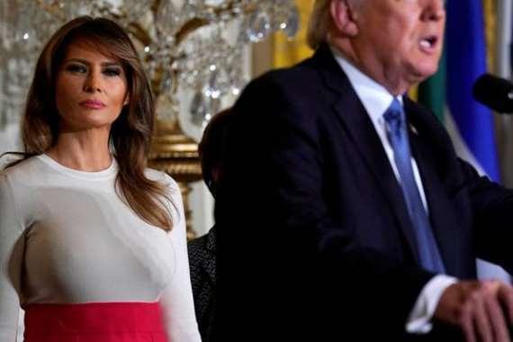 صورة ميلانيا ترامب الفاضحة والتي أثارت جدلا كبيرا في الولايات المتحدة خلال الساعات الماضية والهجوم عليها بسبب مصر