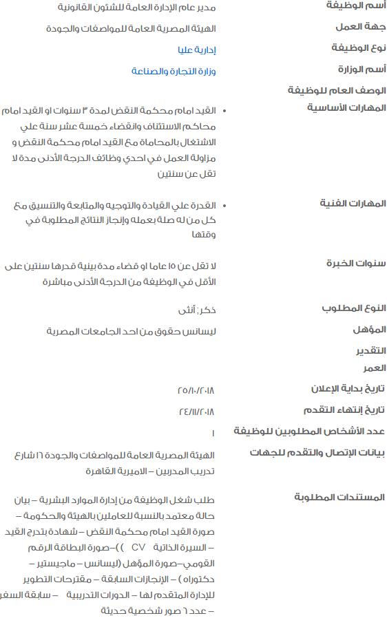 وظائف حكومية خالية لشهر نوفمبر للشباب العاطلين 3