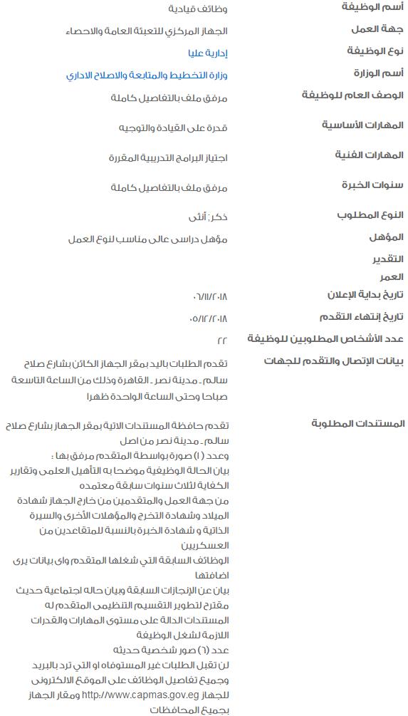 وظائف حكومية خالية لشهر نوفمبر للشباب العاطلين 2