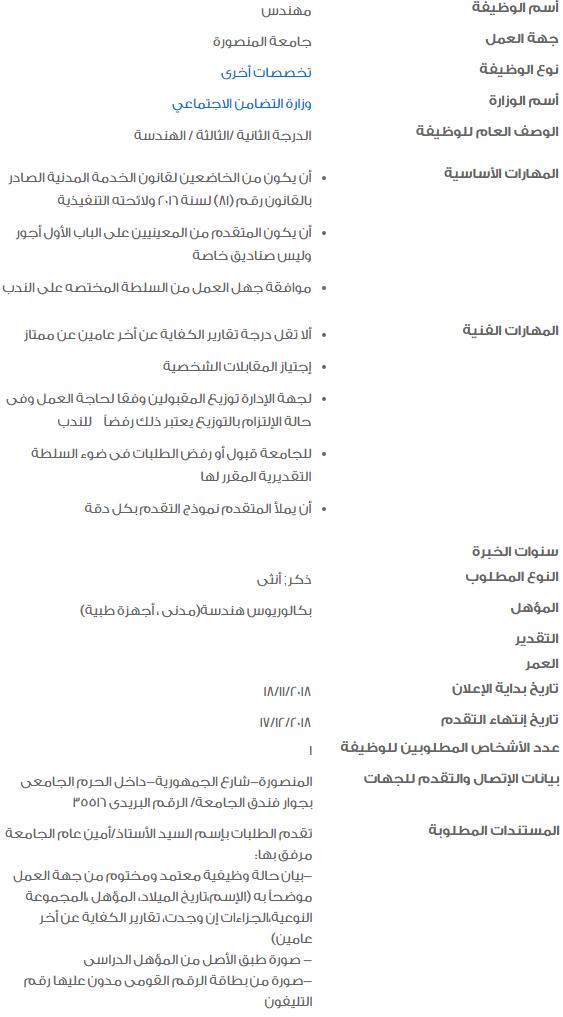 وظائف حكومية خالية لكافة المؤهلات في مصر 1