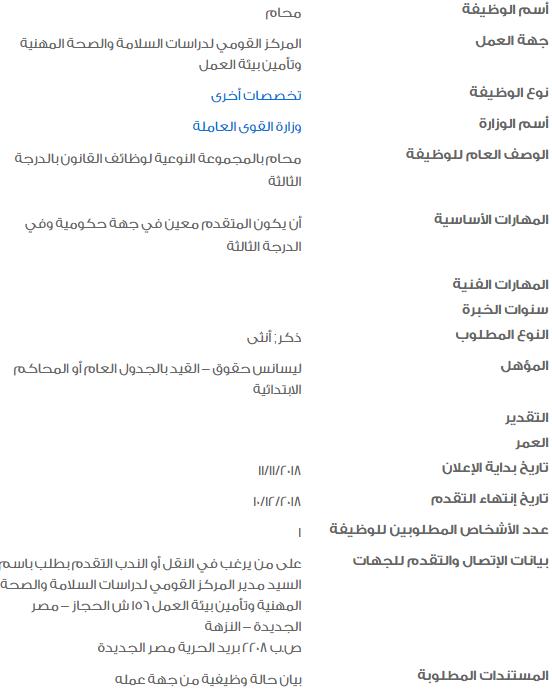 وظائف حكومية خالية لكافة المؤهلات في مصر 2