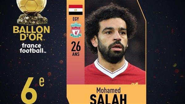 صدمة قوية للنجم «محمد صلاح» بسبب تصويت العرب على جائزة الكرة الذهبية