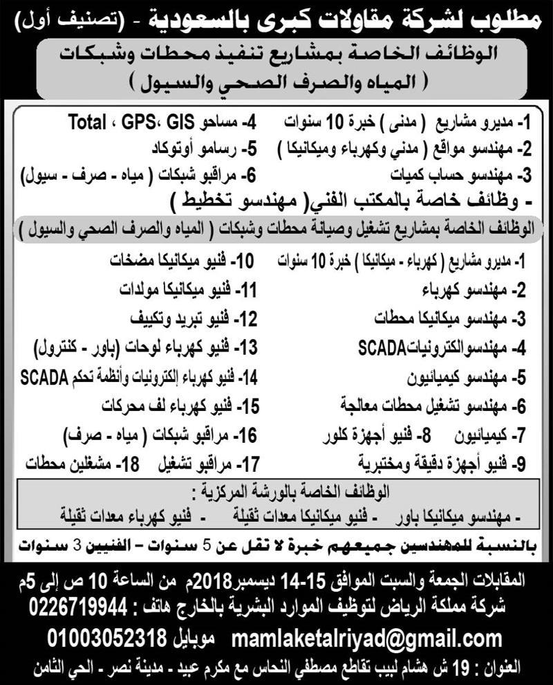 اعلانات وظائف جريدة الاهرام الأسبوعي لجميع المؤهلات 6