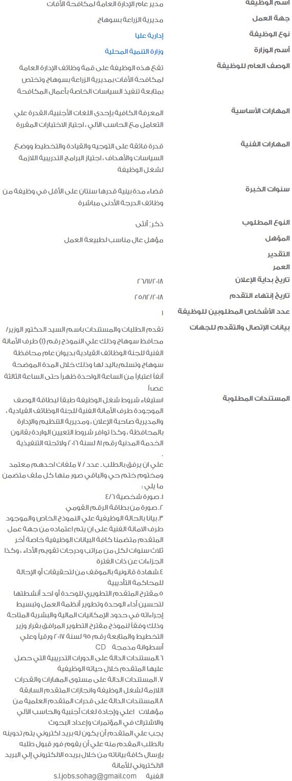 فرص عمل متاحة بالهيئات الحكومية لمختلف المجالات 2