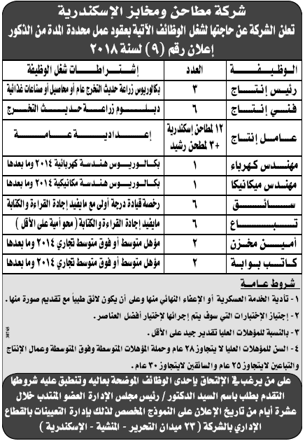 إعلانات وظائف جريدة الوسيط اليوم لجميع المؤهلات 9