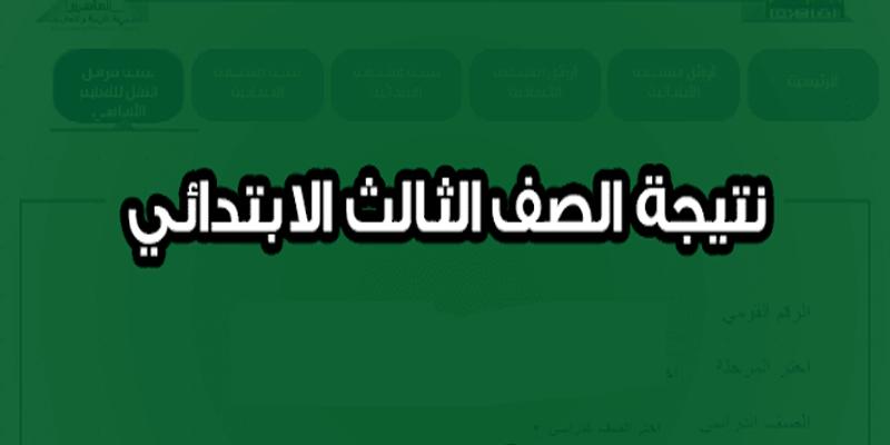 نتيجة الصف الثالث الإبتدائي 2019 محافظة القاهرة| نتائج ثالثة ابتدائي الترم الأول 2018-2019 على بوابة التعليم الأساسي cairogovresults