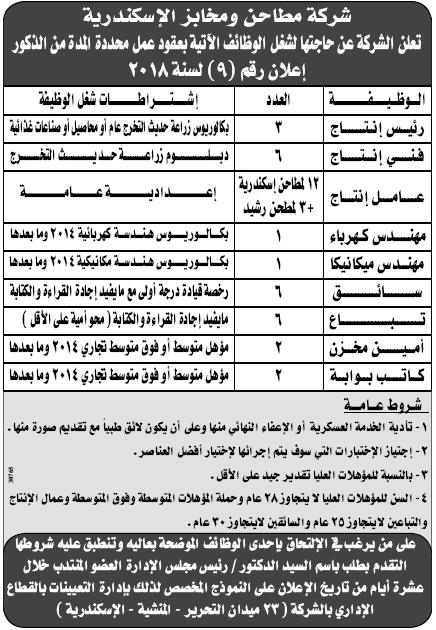 وظائف الوسيط اليوم الاثنين 7/1/2019 لجميع المؤهلات 16