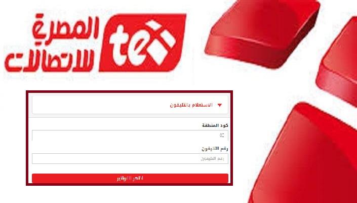 رابط الاستعلام عن فاتورة التليفون الارضي 2019 من موقع المصرية للاتصالات