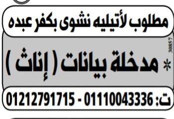 إعلانات وظائف جريدة الوسيط اليوم الاثنين 28/1/2019 2