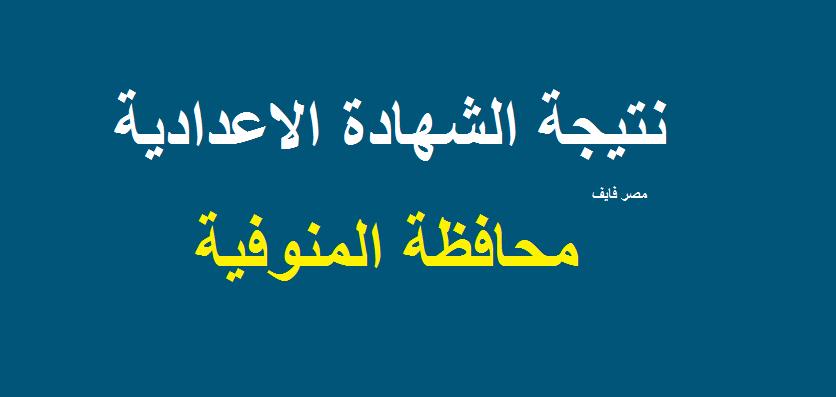 اليوم السابع| روابط نتيجة الشهادة الاعدادية 2019 محافظة المنوفية البوابة الإلكترونية الفصل الدراسي الثاني