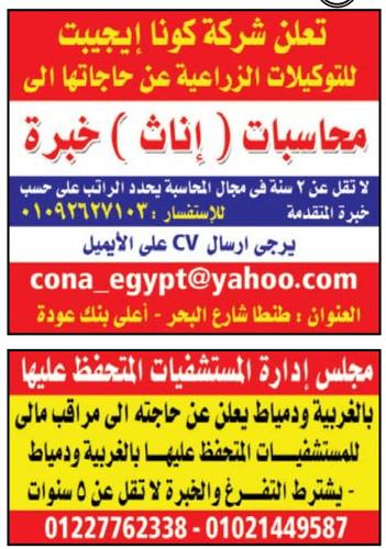 جريدة الوسيط الدلتا للوظائف عدد الجمعة 8/2/2019