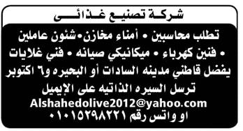 وظائف جريدة الوسيط المصرية اليوم 11/2/2019
