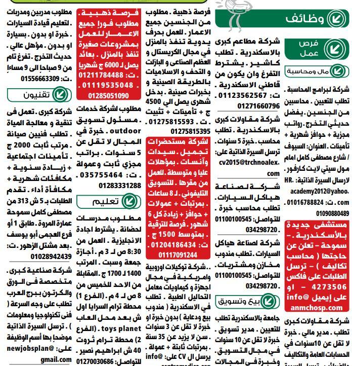 وظائف الوسيط الاسكندرية 21/1/2020 2