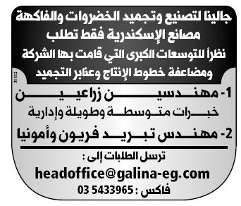 إعلانات وظائف الوسيط اليوم الإثنين 18/2/2019 12