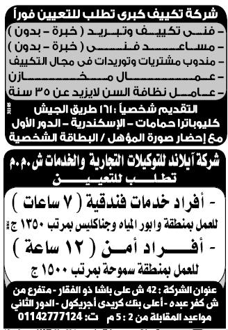 إعلانات وظائف الوسيط اليوم الإثنين 18/2/2019 18