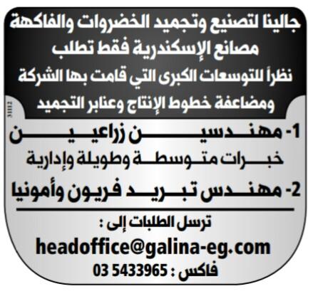 إعلانات وظائف جريدة الوسيط اليوم الاثنين 25/2/2019 9