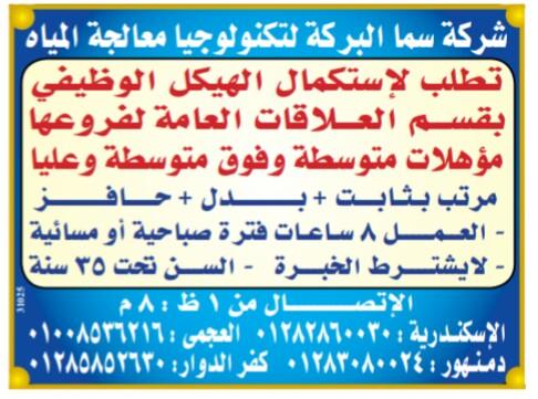 إعلانات وظائف جريدة الوسيط اليوم الاثنين 25/2/2019 21