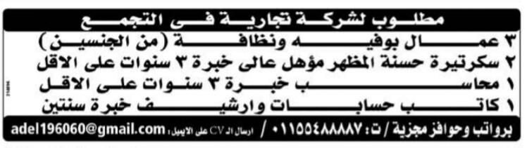 إعلانات وظائف جريدة الوسيط الأسبوعي لجميع المؤهلات 25